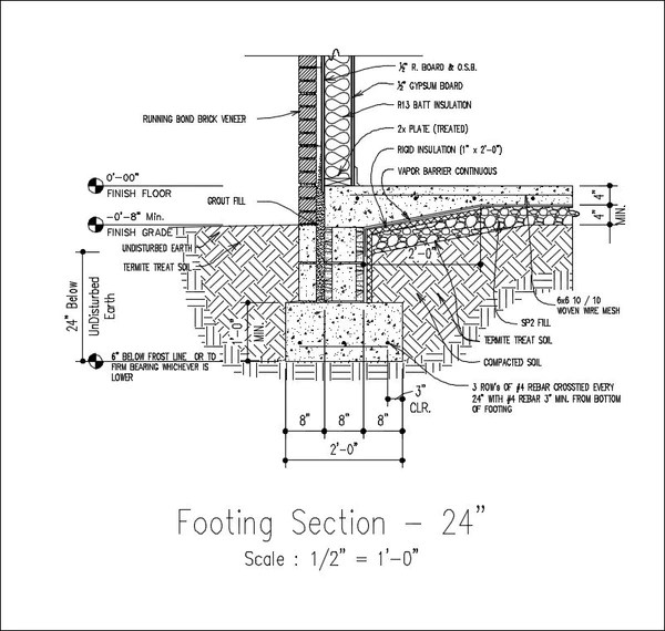 office chair cad block swing quotes 【cad details collection-wall footing section】 -download | autocad blocks ...