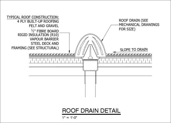 Free CAD DetailsRoof Drain Detail  CAD Design  Free CAD