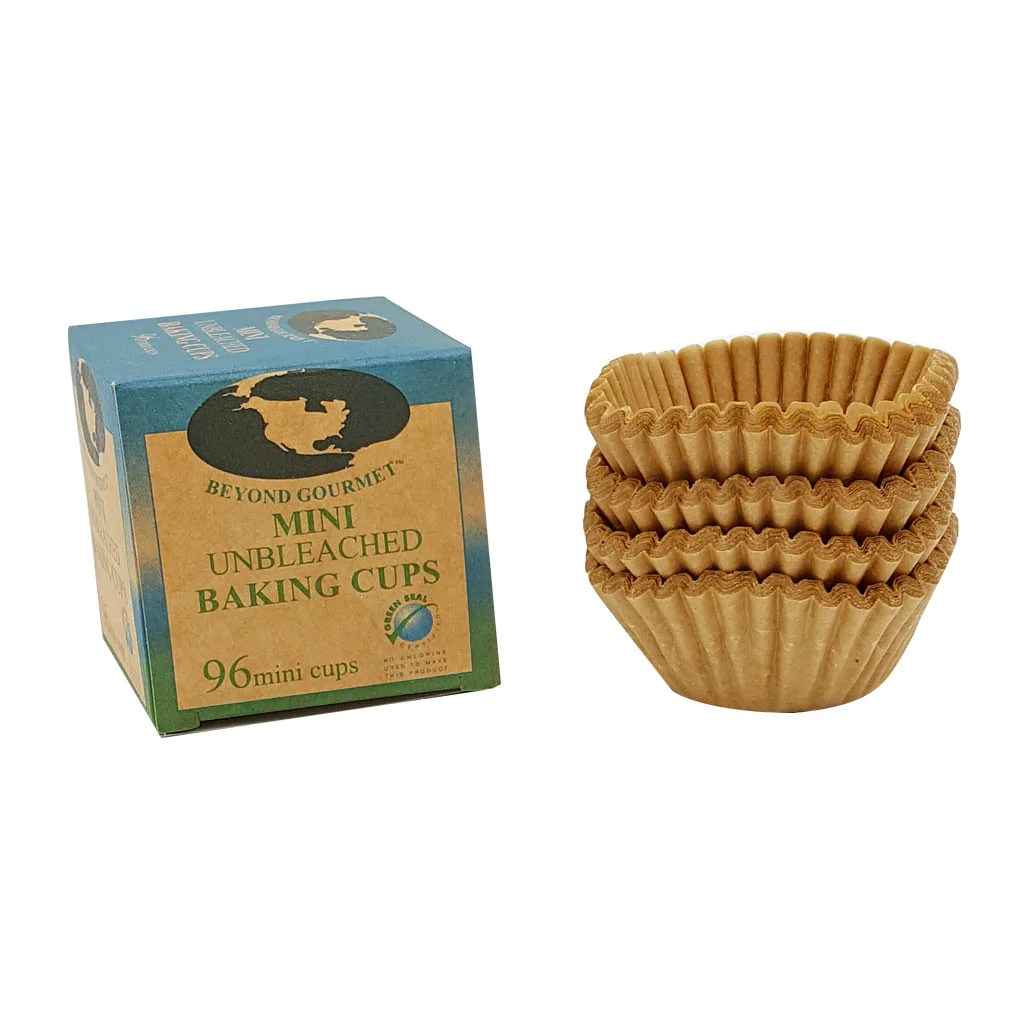 Gourmet Mini Muffin Cups Box 96 Natural Parchment Kitchen Supply