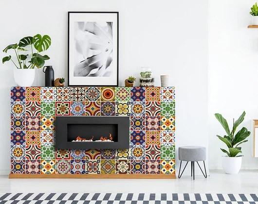 decorative tile stickers set of 24 peel stick