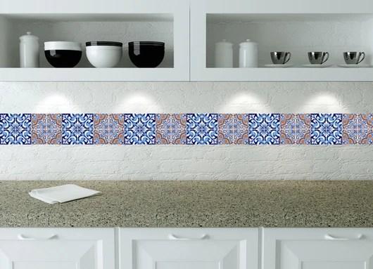 kitchen design diy 24 tile stickers mexican talavera style backsplash stickers mixed vintage kitchen decals bathroom stair decals h218