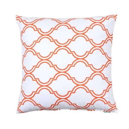 bono white orange throw pillow cover