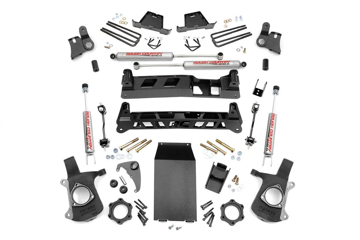 4in gm ntd suspension lift kit 99 06 silverado 1500 4wd 99 06 sierra 1500 4wd [ 1200 x 800 Pixel ]