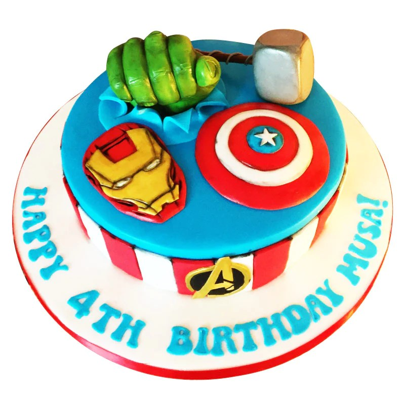 Avengers Birthday Cake Buy Online Free Uk Delivery