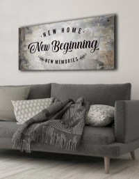 Home Wall Art: New Home New Beginning (Wood Frame Ready To ...