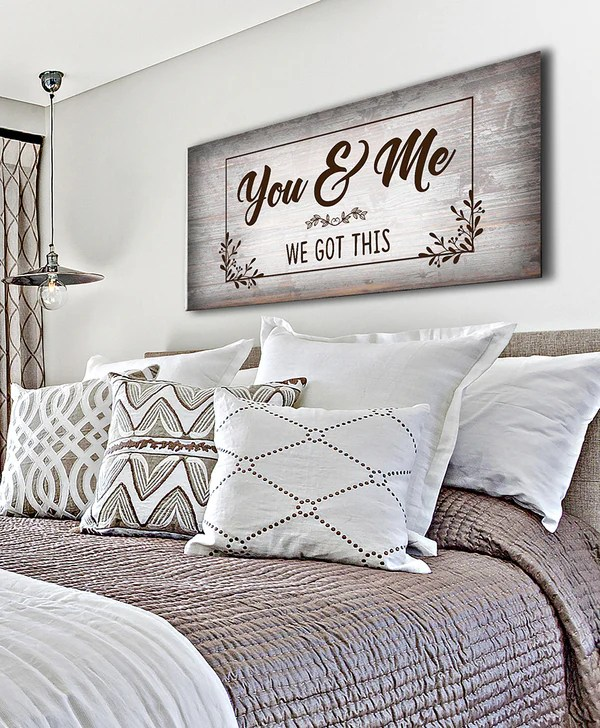 Couples Wall Art You Me We Got This V6 Wood Frame