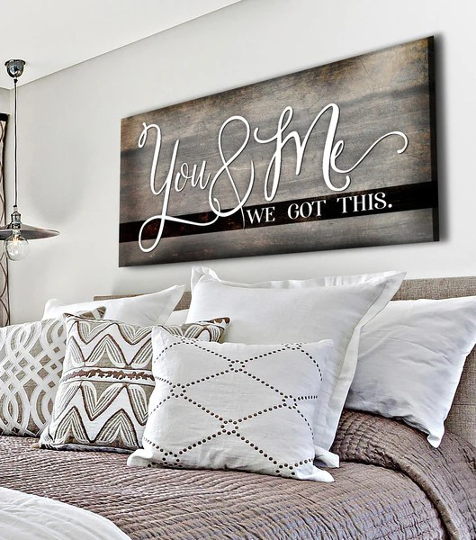 Couples Wall Art You Me We Got This V8 Wood Frame