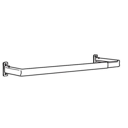 graber single standard curtain rods