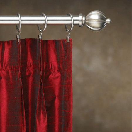 contemporary metal inside mount curtain rod set 1 in diameter cassidy west