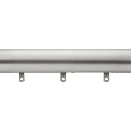 kirsch designer metals 1 3 8 inch diameter smooth traverse curtain rod set with plain slides 66 120 inches