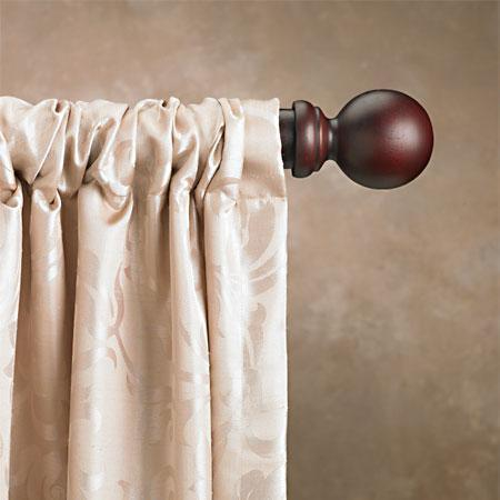cassidy west 2 inch double wood curtain rod