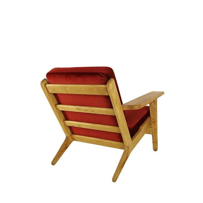 red lounge chair oversized recliner milton a modern walnut wooden armchair dark