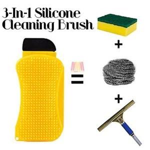 eponge en silicone de nettoyage 3 en 1