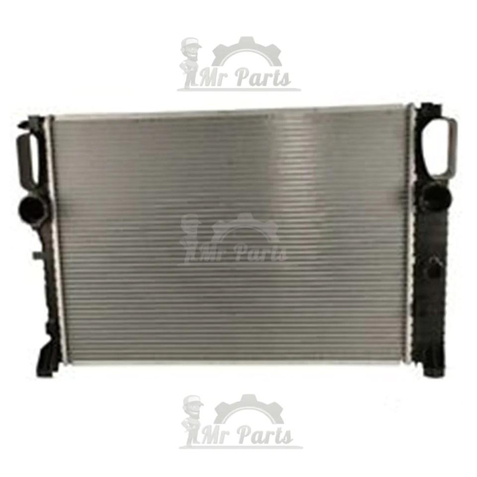 medium resolution of double cell single fan mercedes benz radiator e550 e320 cls550 bra mr parts