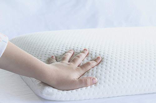 magasin memory foam ultra slim stomach sleeper pillow 15x24x2 5 inches pristine hues