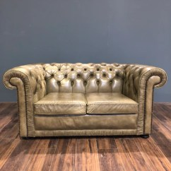 Chesterfield Sofa London Second Hand Baseball Glove Chair Sofas Chairs At Robinson Of England A Really Lovely 2 Seater In Chalk Green