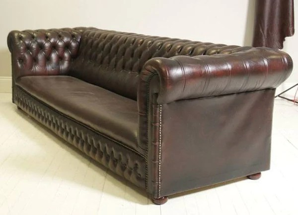 robinson and leather sofa red modular traditional chesterfield deep wine – of ...