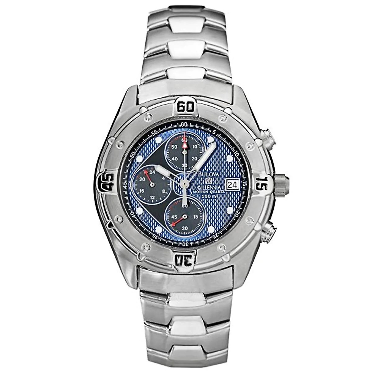 Bulova 96B34 Gent's Blue & Black Dial Chrono Motion Quartz Watch