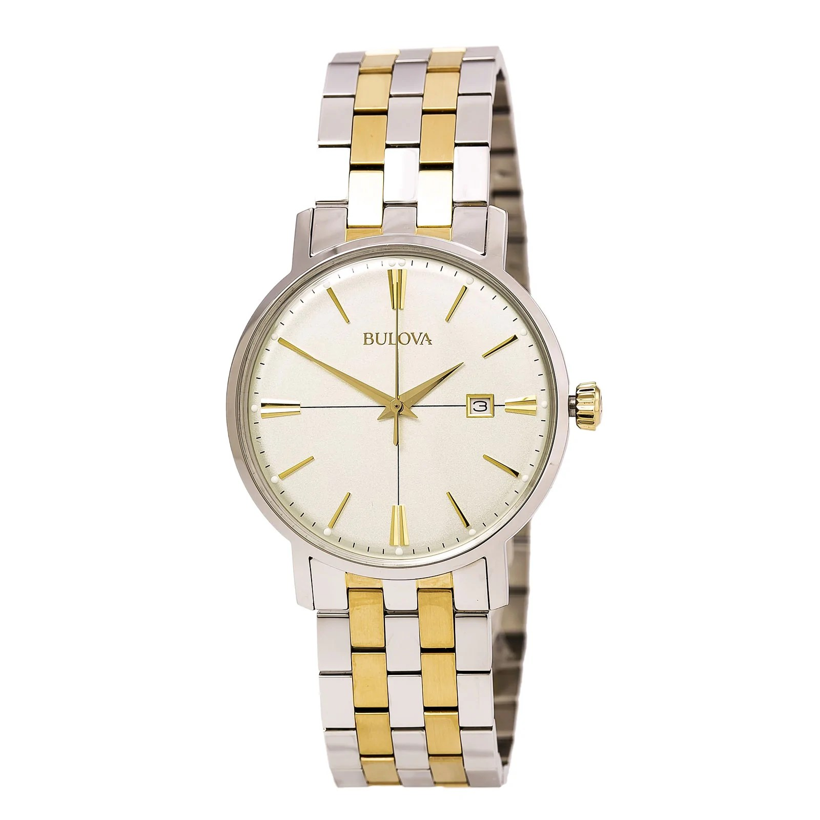 Bulova 98B255 Gent's Cream Dial Two Tone Steel Bracelet Watch