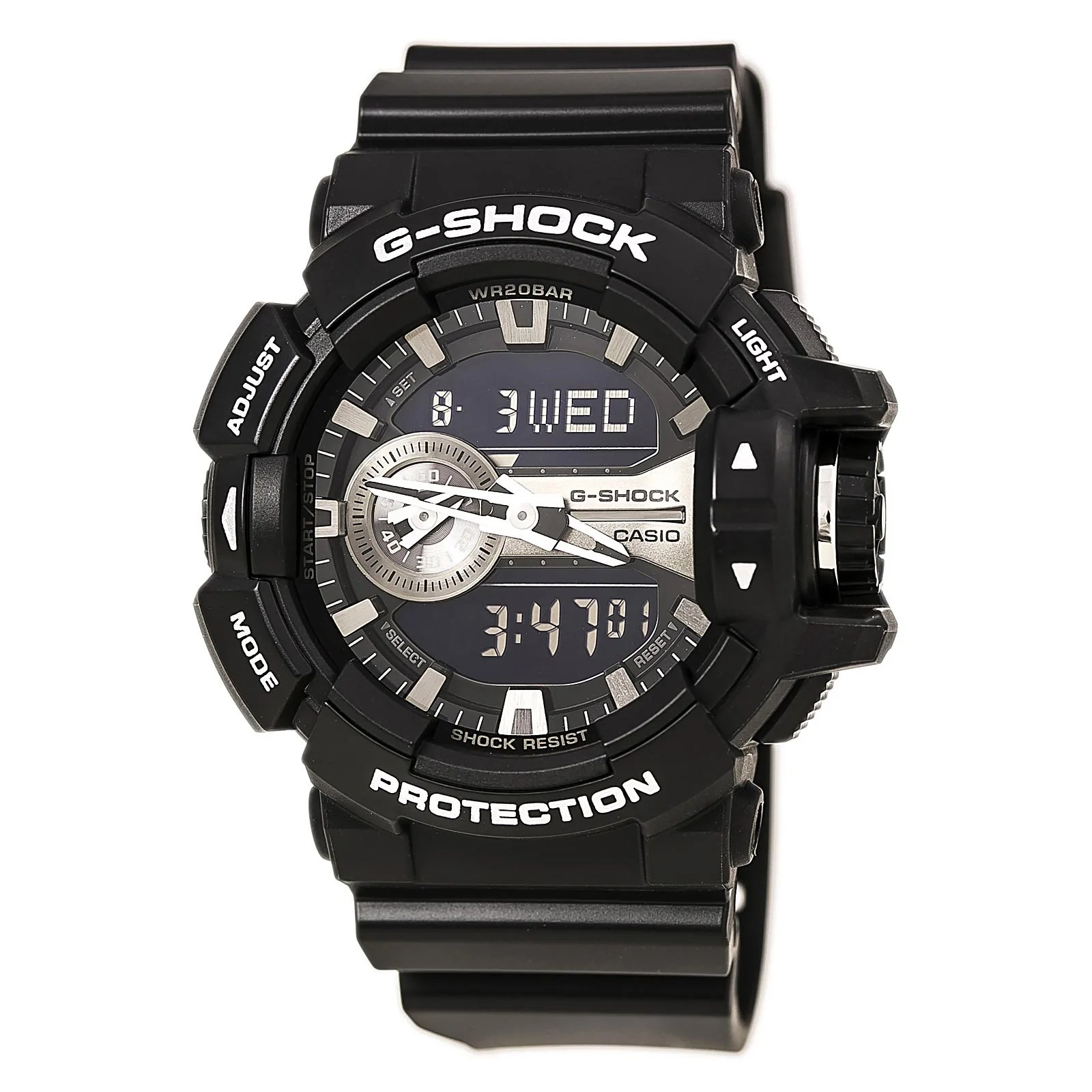 Casio GA400GB-1A Gent's G-Shock Black Resin Band World Time Watch