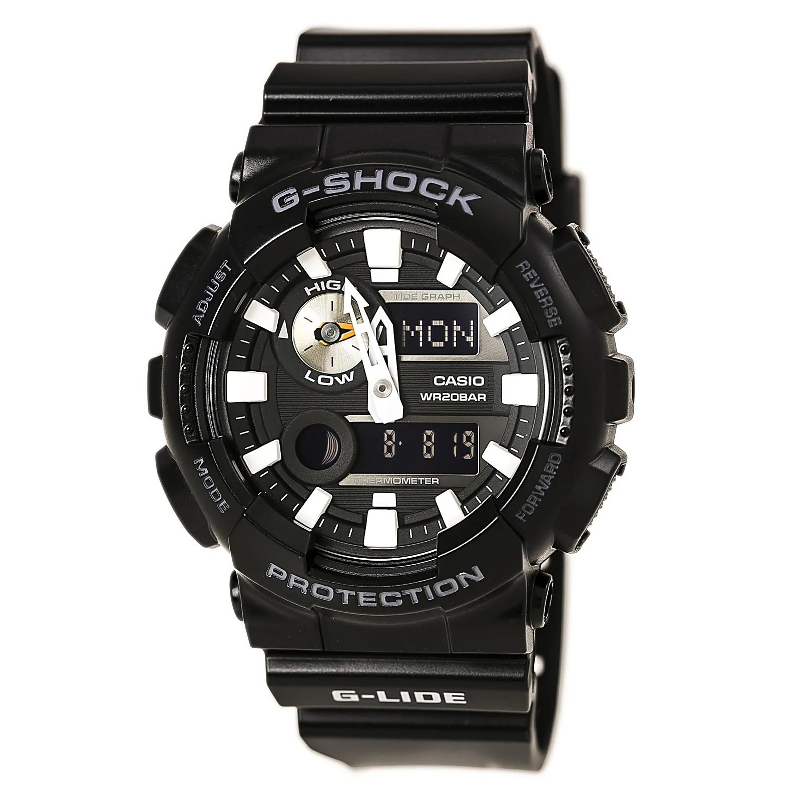 Casio GAX100B-1A Gent's Ana-Digi Black Dial World Time Dive Watch