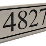 Home Garden Build A Stone Custom Engraved Address Stone Mailbox House Numbers Brick Garden Plaques Signs