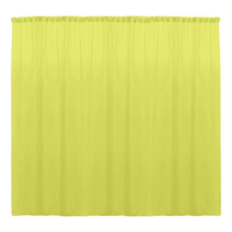 10 x 10 ft light yellow curtain polyester backdrop drapes panels with rod pocket