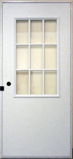 Elixir Exterior Outswing Door with 9 Light Cottage Window Series 200  ML Mobile Home Supply