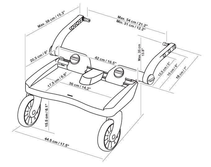 Lascal Buggy Board Maxi Global Baby