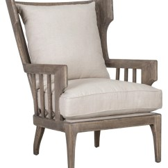 Accent Wingback Chairs Stylish Folding Lars Oak Chair Linen Vintage Home Charlotte