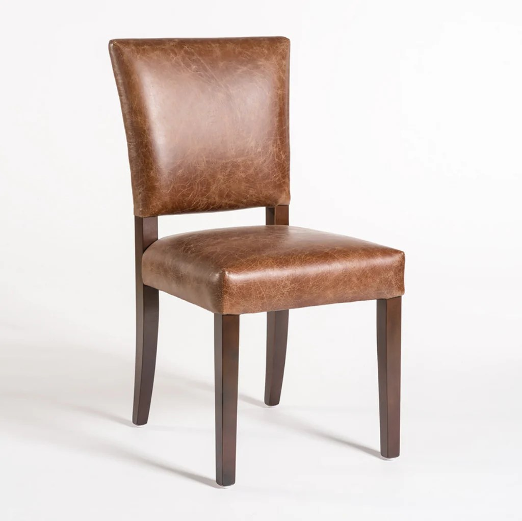 leather dining chairs modern red chair redmond distressed clay vintage home charlotte