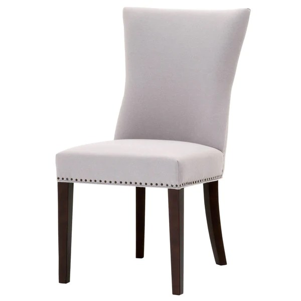 chair with light steel lowest price dining chairs vintage home charlotte ava gray fabric