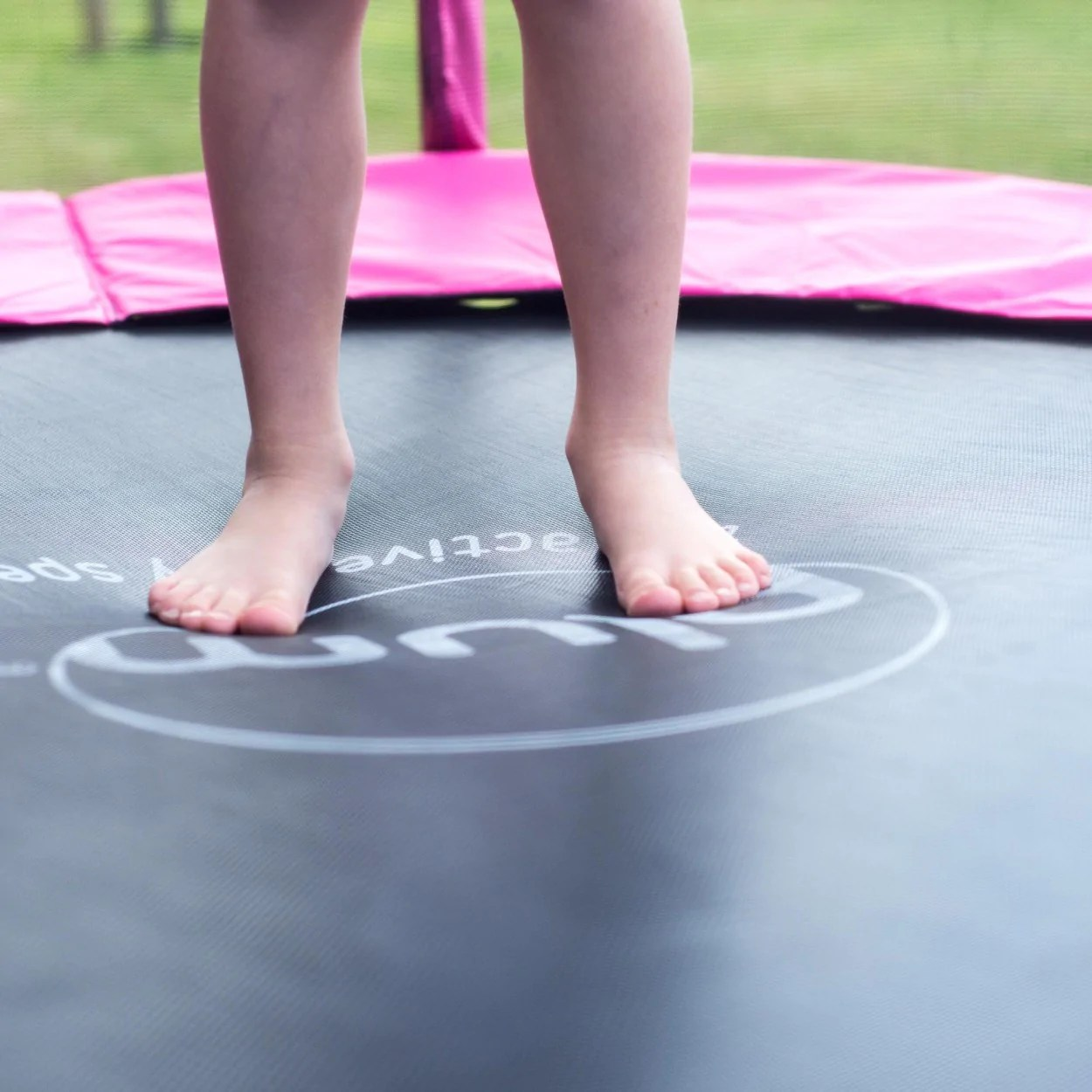 Plum 2.43 Metres 8ft Magnitude Premium Trampoline With Safety Enclos - Childhood Home Kids