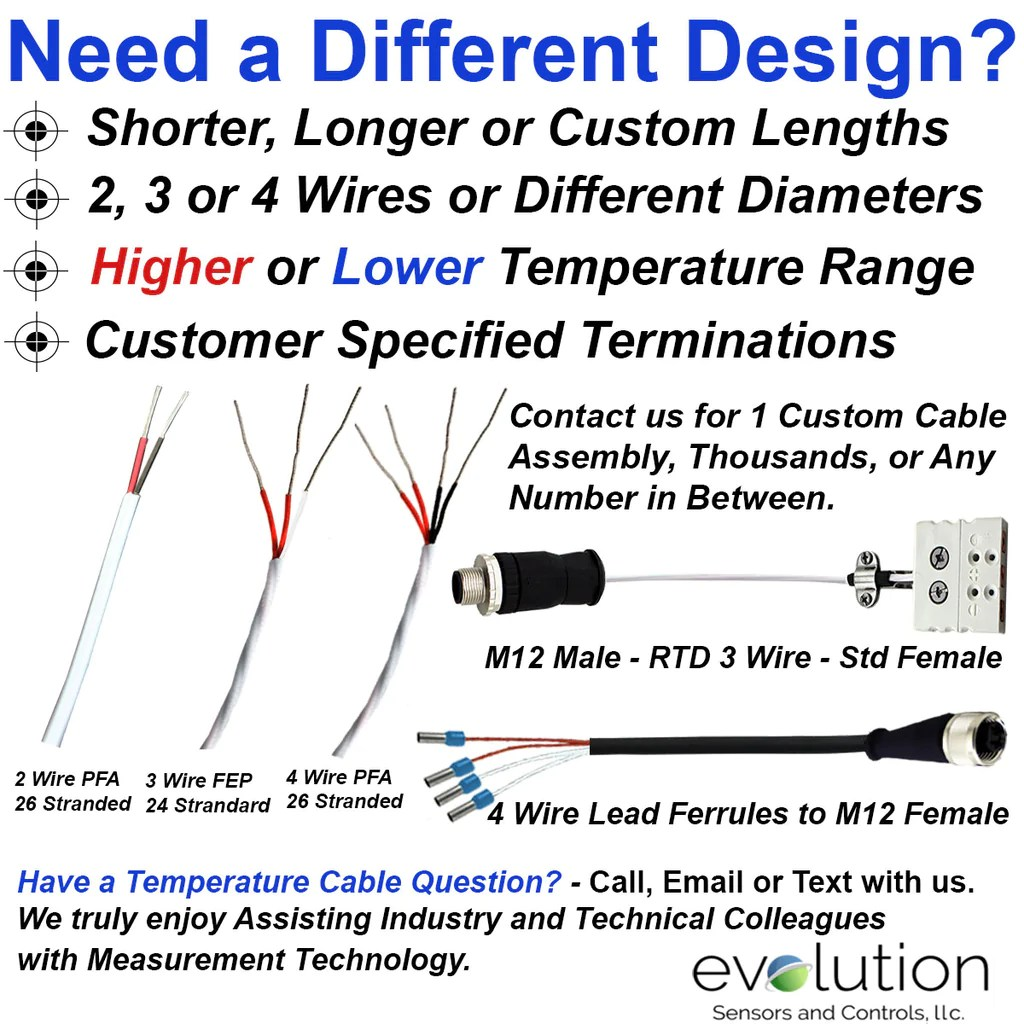 hight resolution of rtd wire 3 wire design 24 gage stranded with fep insulation 25 ft long