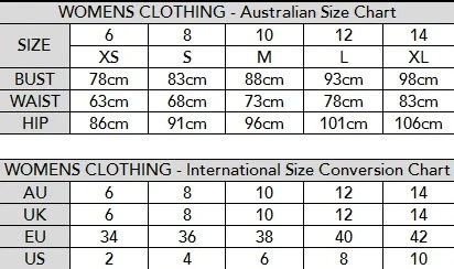 Sizing chart fearless active wear rh fearlessactivewear com us size guide shoes for woman   werner kern also best setting instruction ourk