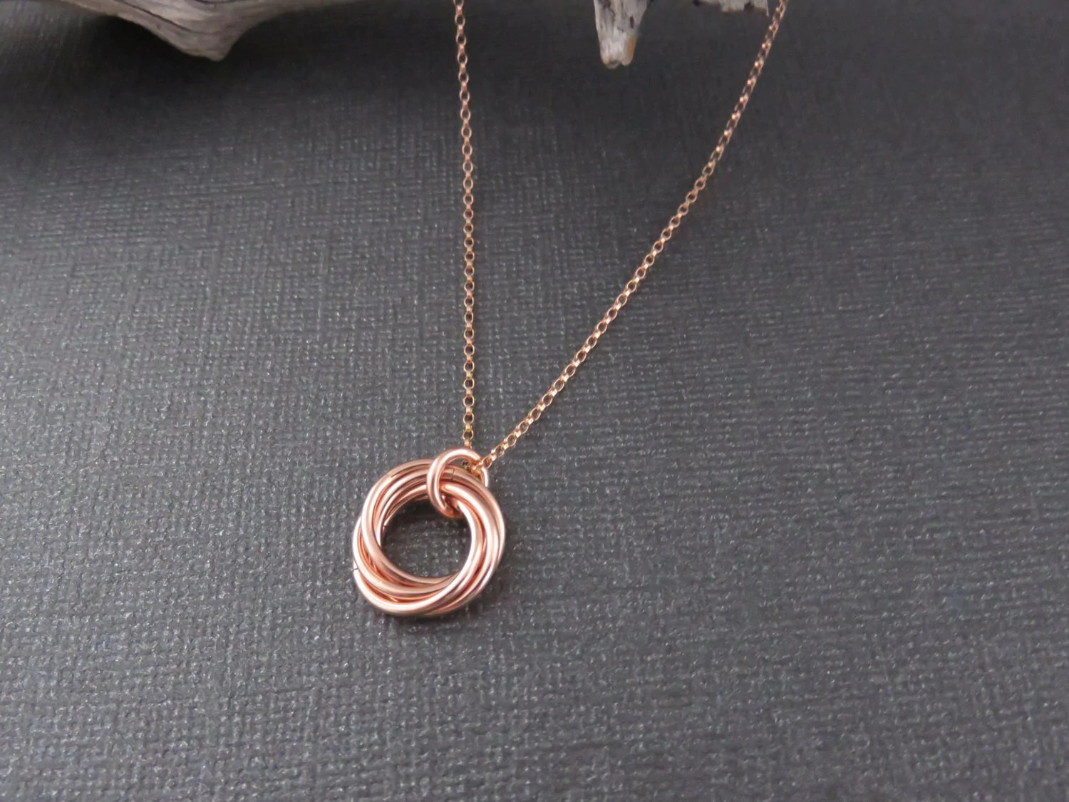 Rose Gold Birthday Necklace