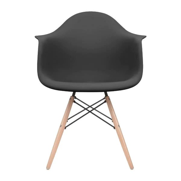 eames style plastic chair contemporary dining room chairs uk black molded dowel leg arm wood base dswchairs com