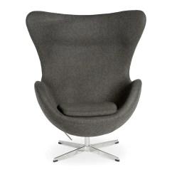 S Chair Replica Lane Recliner Arne Jacobsen Egg Charcoal The Design Edit
