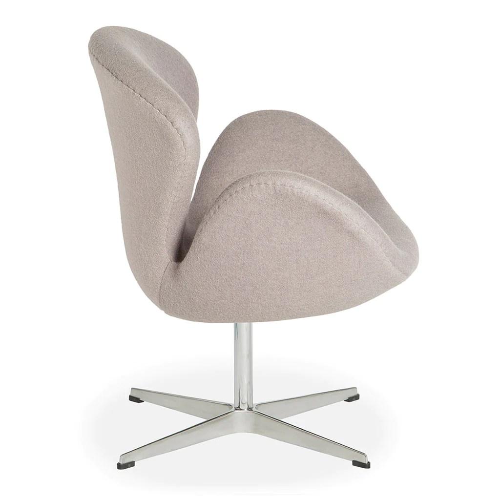 arne jacobsen swan chair swing outdoor replica ash grey the design edit