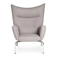 S Chair Replica Aeron Gas Cylinder Replacement Wegner Ch445 Wing 43 Ottoman Cashmere Grey