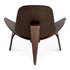 Shell Chair Replica Office Lumbar Support Wegner Ch07 Black 43 Dark Walnut The