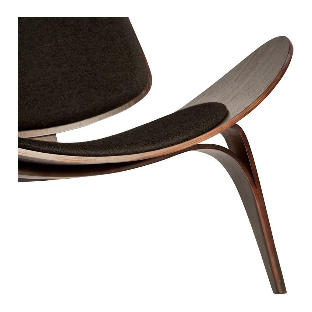 shell chair replica burlap cover ideas wegner ch07 black 43 dark walnut the