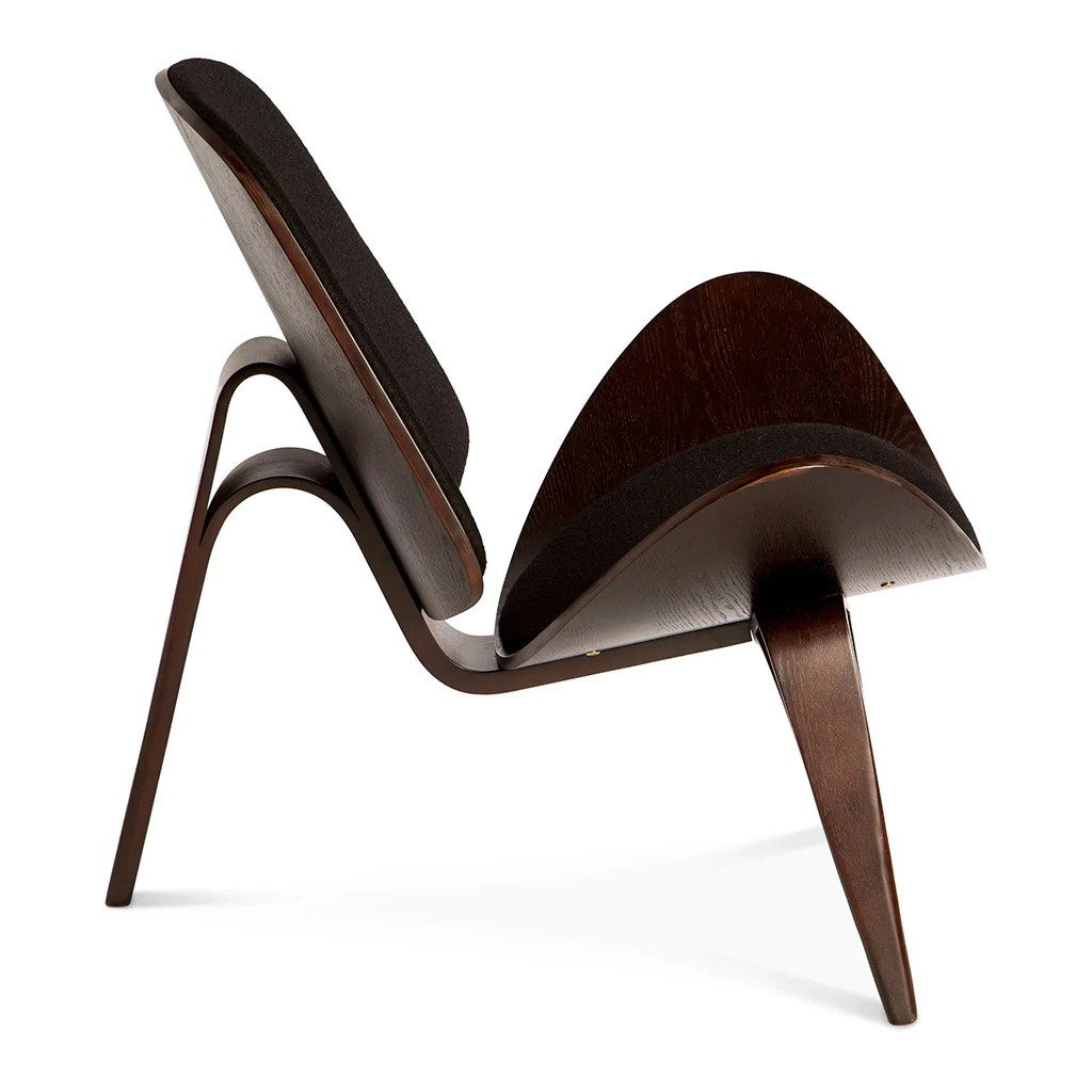 shell chair replica how to make a wooden rocking wegner ch07 black dark walnut the design edit sale