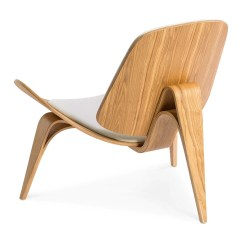 Shell Chair Replica Covers Ikea Uk Wegner Ch07 White Natural The Design Edit Mid Century Modern Hans J Moulded Plywood And Cashmere In