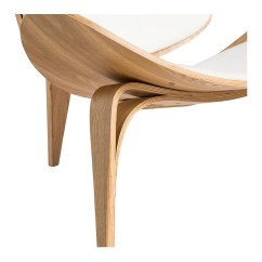 Shell Chair Replica Swivel Accent With Arms Wegner Ch07 White 43 Natural The