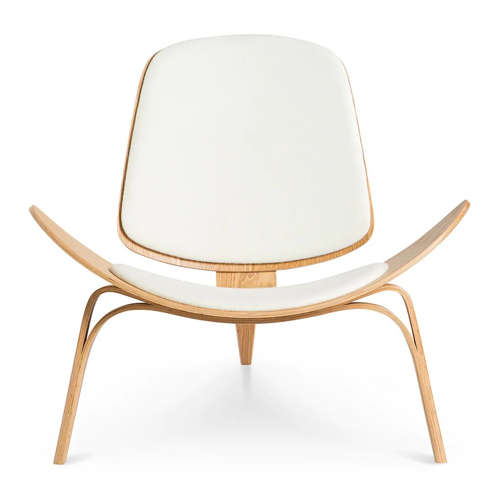 hans wegner lounge chair replica grey wing ch07 shell white 43 natural the