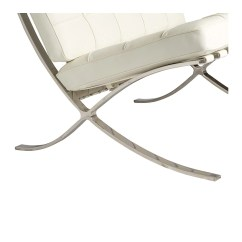 Barcelona Chair Replica Wooden Folding Church Chairs White The Design Edit