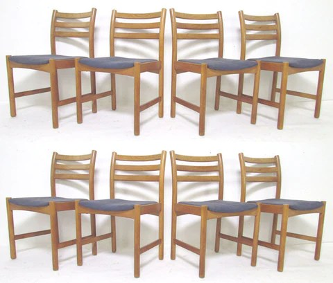 danish dining chair yankee stadium chairs for sale set of eight by poul volther soro stolefabrik modhaus