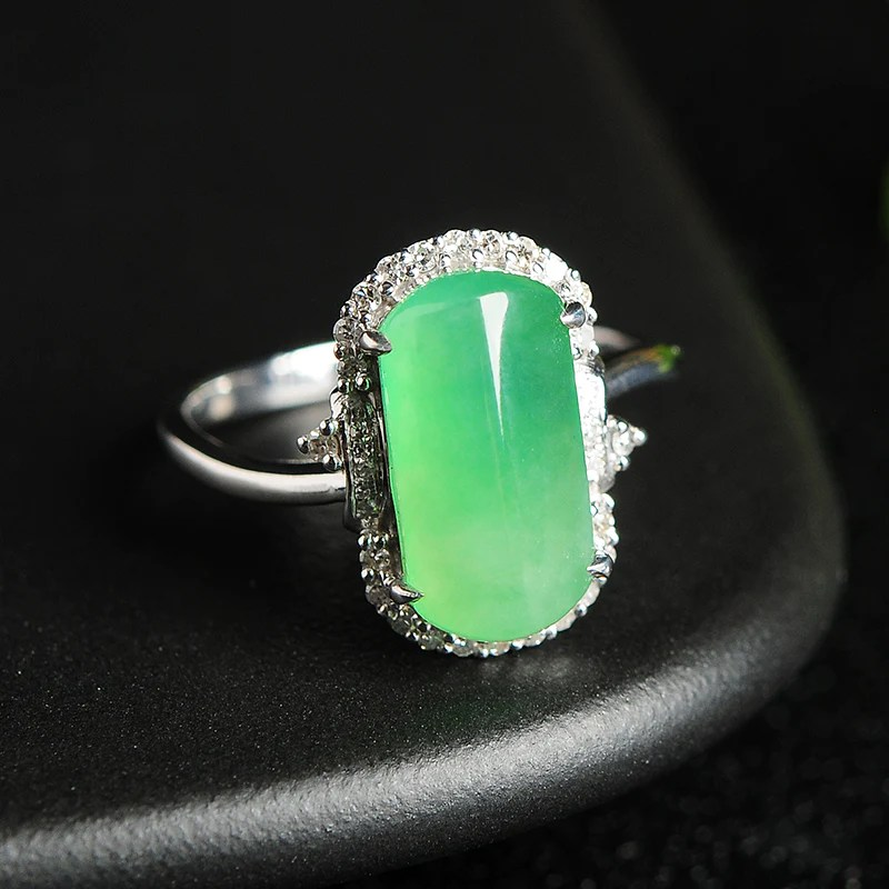 Natural Jade Ring Jadeite Gold Ring RG13  Jade Nature