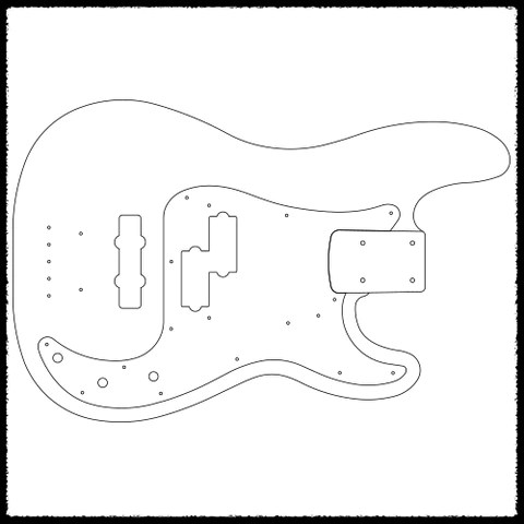 p bass body dimensions 96 jeep cherokee ignition wiring diagram precision guitar routing templates faction guitars